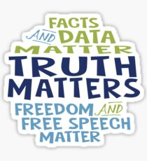 Truth Matters Word Bubble Sticker