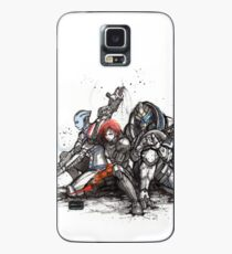 Shepard, Garrus and Liara trio sumi and watercolor style Case/Skin for Samsung Galaxy