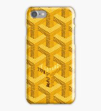Goyard Yellow Color iPhone Case/Skin