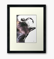 Shadowtwister dancer  - textured conté drawing Framed Print