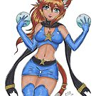 Magical Catgirl by rbrogdenart