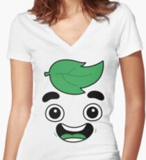 guava juice logo t-shirt for girls and kids shirt Women's Fitted V-Neck T-Shirt