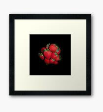 Very Berry Strawberries Framed Print