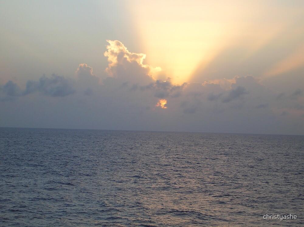 Cruise Ship Sunrise III by christyashe