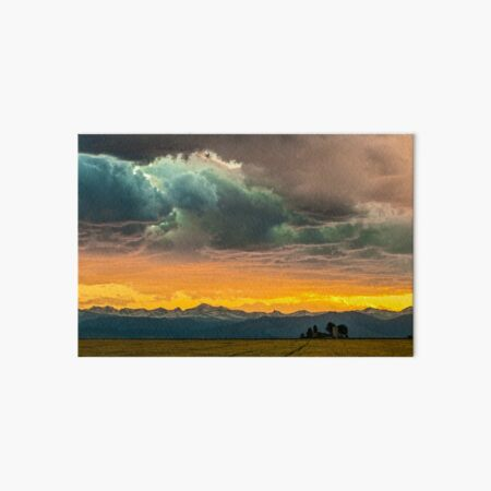 Powers of Sunset Art Board Print