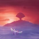 Flying to Pure land  by orioto