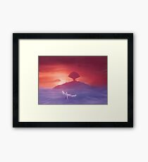 Flying to Pure land  Framed Print
