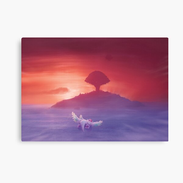 Flying to Pure land  Canvas Print