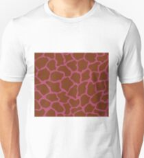 Irresistible or Raspberry Rose in Giraffe Pattern Unisex T-Shirt