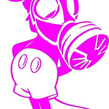 Maskey Mouse - pink pattern by sonatamartica