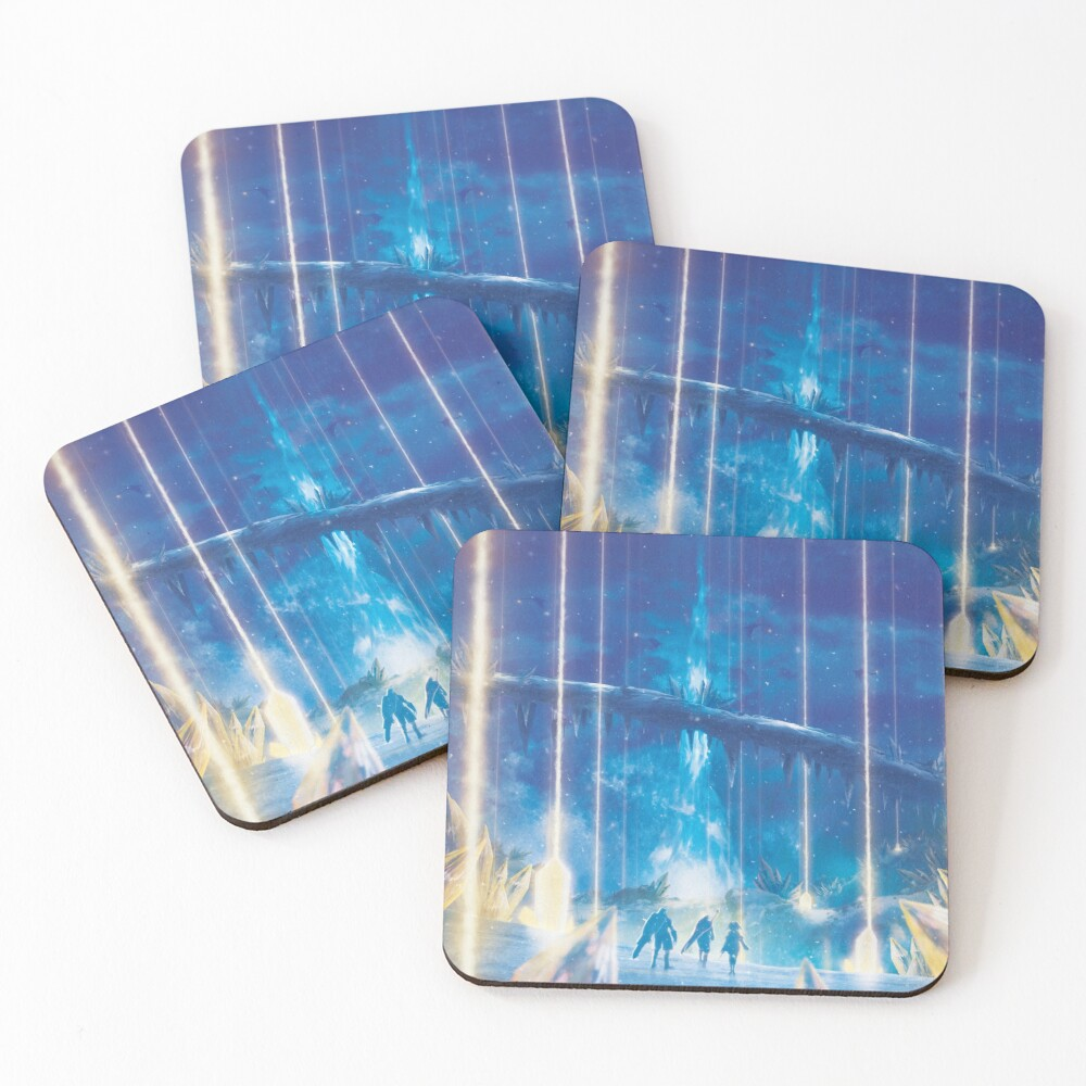 Valak Mountains by Night  Coasters (Set of 4)