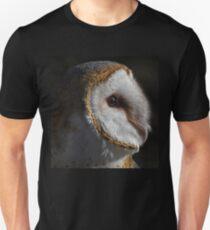 Barn Owl Profile Unisex T-Shirt