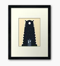The Police box on the night... Framed Print