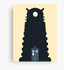 The Police box on the night... Canvas Print