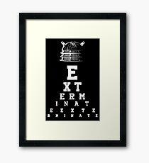 Dalek Eye Table Framed Print