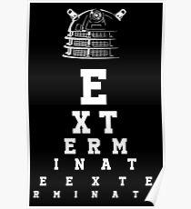 Dalek Eye Table Poster