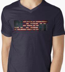 'RESIST' USA Protest Flag  Men's V-Neck T-Shirt