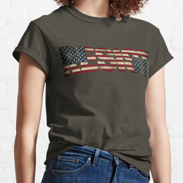 'RESIST' USA Protest Flag  Classic T-Shirt