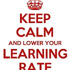 Keep calm and lower your learning rate by Machine Learning