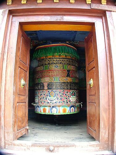 Large Prayer Wheel by Sarah Jones