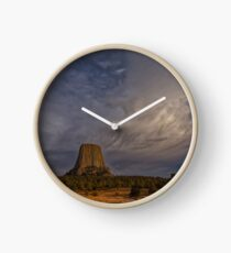 Evening Time at Devils Tower Clock