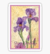Birthday Iris Sticker