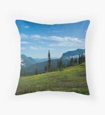 Highline Trail, Glacier NP Throw Pillow
