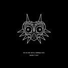 majoras mask | minimal poster BLACK von BloodyCross