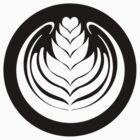 Latte Art Tulip (cercle noir series) by Barista