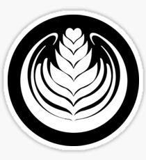 Latte Art Tulip (cercle noir series) Sticker
