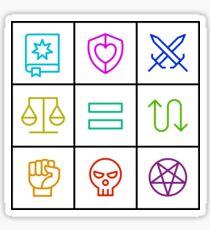 Alignment - Dungeons & Dragons Line Art Series Sticker