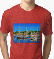 Summer Day at Gloucester Tri-blend T-Shirt
