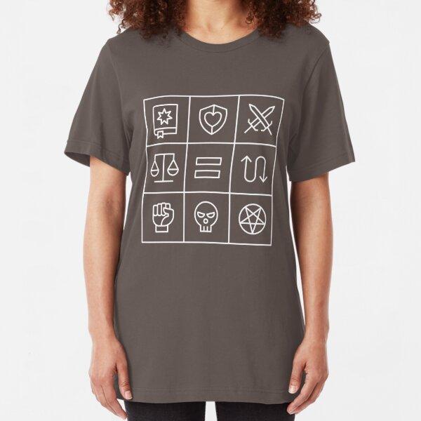 Alignment - Dungeons & Dragons Line Art Series Slim Fit T-Shirt