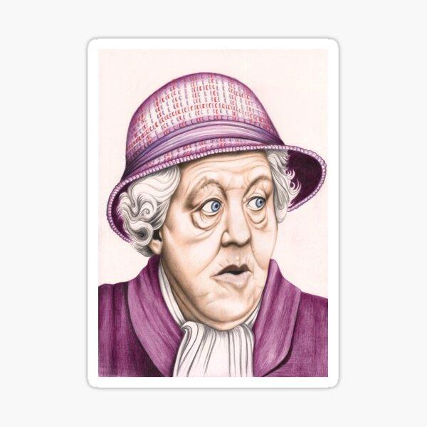Das Original Miss Marple: Dame Margaret Rutherford (501 Aufrufe zum 16. August 2011) Sticker