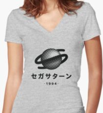 Sega Saturn Women's Fitted V-Neck T-Shirt