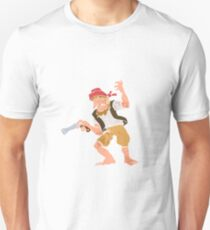 Pirate with Gun Cartoon Unisex T-Shirt