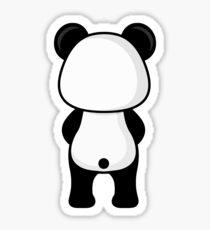 Panda Back Side Sticker
