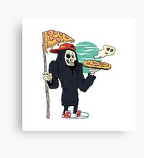 Pizza delivery reaper grim Canvas Print
