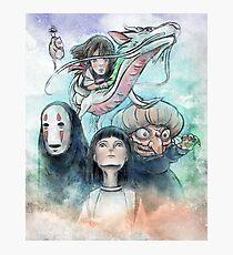 Spirited Away Miyazaki Tribute Watercolor Painting Photographic Print
