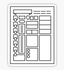 Character Sheet - Dungeons & Dragons Line Art Series Sticker
