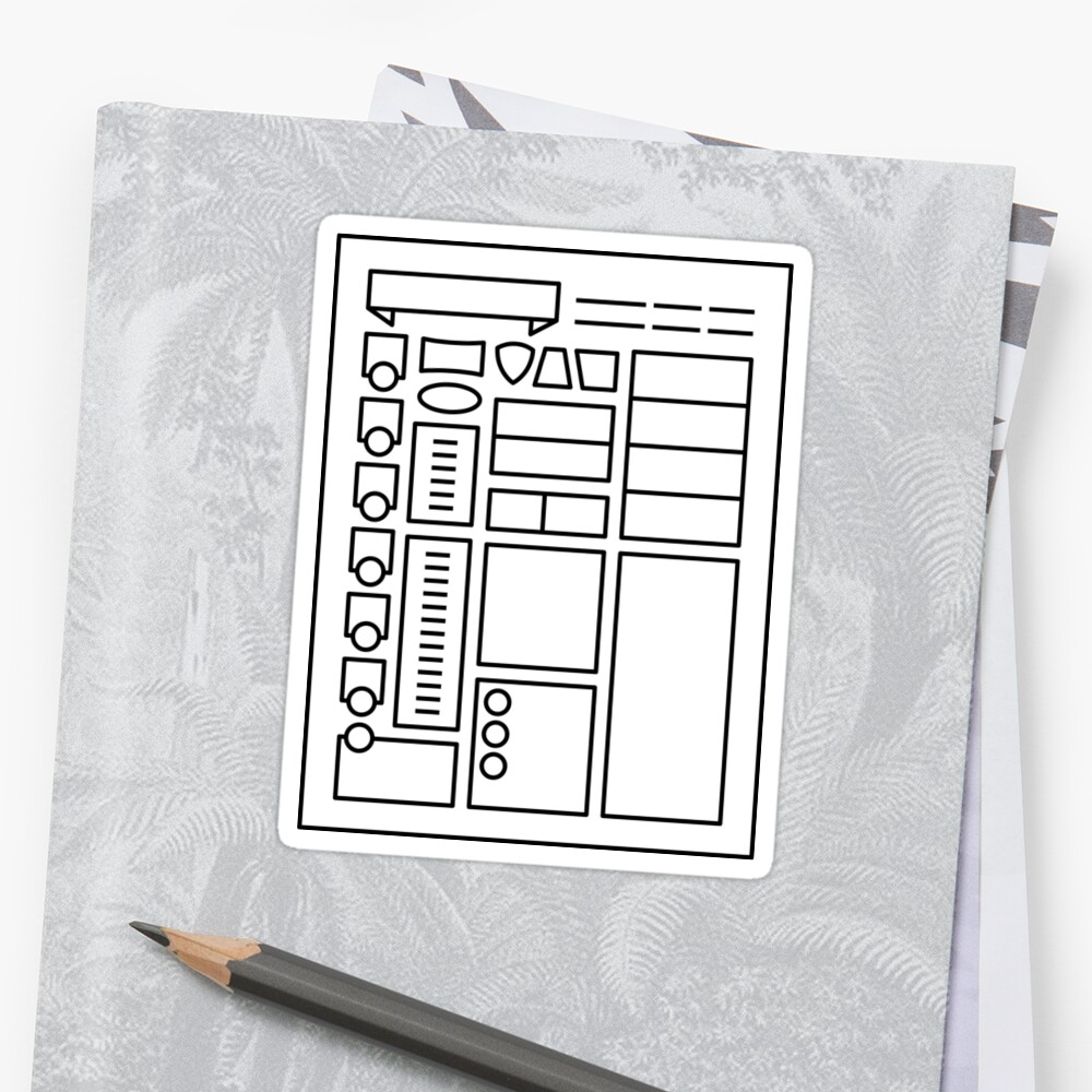 Character Sheet - Dungeons & Dragons Line Art Series by dcmjs