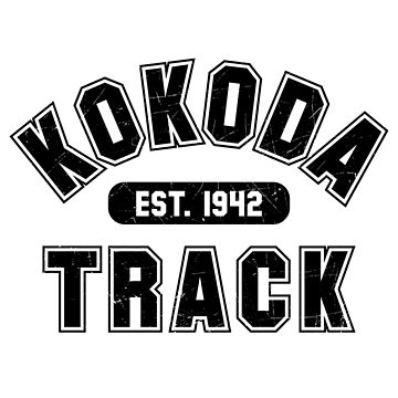Kokoda Track Est 1942 Black Vintage by noroads