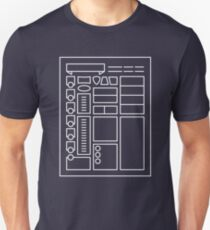 Character Sheet - Dungeons & Dragons Line Art Series T-Shirt