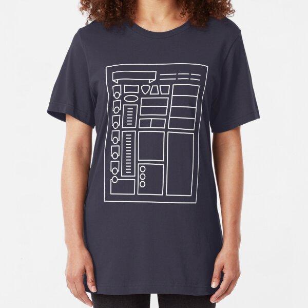 Character Sheet - Dungeons & Dragons Line Art Series Slim Fit T-Shirt