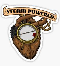 Steam Powered Heart - Steampunk t-shirts etc. Sticker
