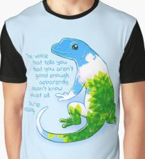 """You're Amazing"" Summer Leaves Gecko Graphic T-Shirt"