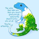 """""""You're Amazing"""" Summer Leaves Gecko by thelatestkate"""