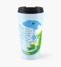 """You're Amazing"" Summer Leaves Gecko Travel Mug"