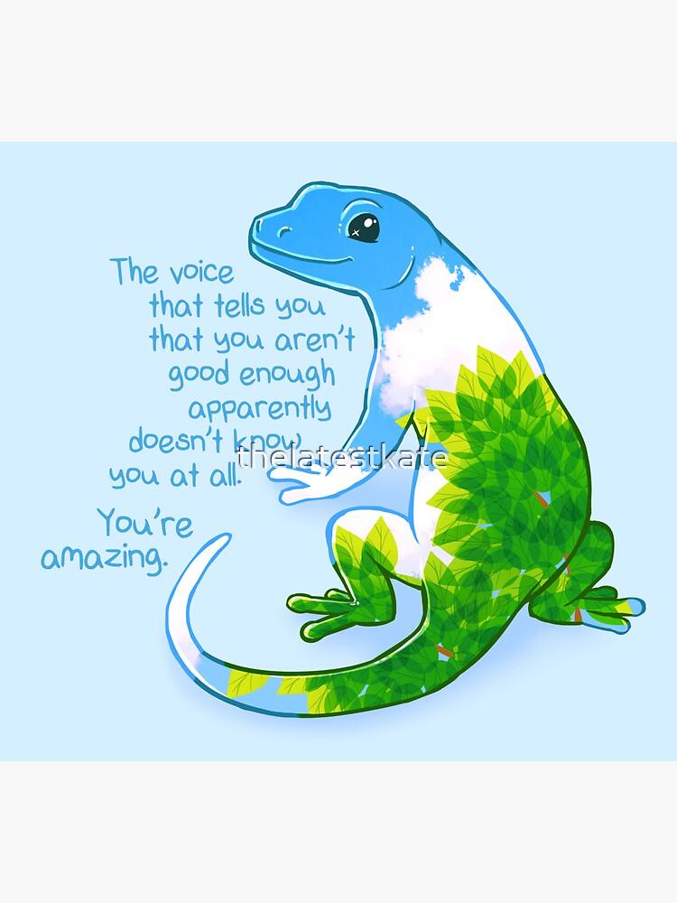 """Eres increíble"" Summer Leaves Gecko de thelatestkate"