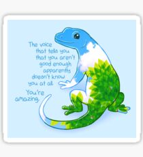 """You're Amazing"" Summer Leaves Gecko Sticker"